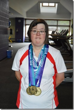 Brittany with medals