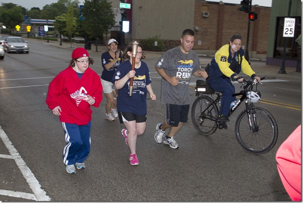 Torch Run Brittney Cel